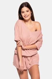 Pijama scurtă damă Rose, din bumbac