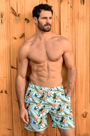 Sort de baie barbatesc SHORTS Co. Papagaio