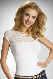 Bluza eleganta Paulina, decorata cu dantela