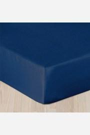 Cearsaf satinat albastru inchis