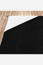 Cearsaf elasticde pat din froté, negru