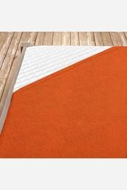 Cearsaf elastic de pat froté, portocaliu