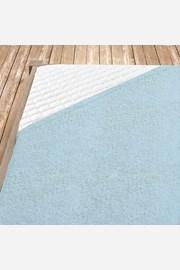 Cearsaf elastic de pat din froté, albastru