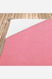 Cearsaf elastic de pat din froté, roz