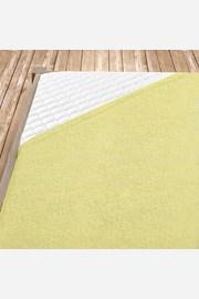 Cearsaf elastic de pat din froté, galben