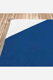 Cearsaf elastic de pat din froté, albastru inchis