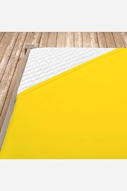 Cersaf de pat cu elastic din jersey, galben