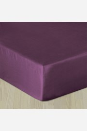 Cearsaf elastic satinat, violet