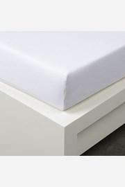 Cearsaf cu elastic Tencel, alb