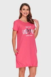 Cămașă de noapte Best mom pink, alăptare
