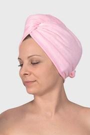 Turban pentru par, roz
