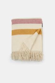 Pătură de lux din lână Stripe, crem