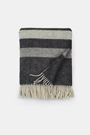 Pătură de lux din lână Stripe, gri