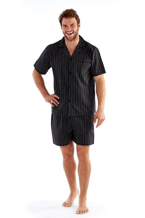 Pijama barbateasca Harvey Black Stripe