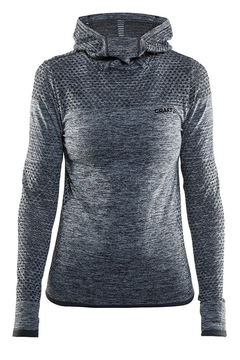 Hanorac dama Craft Core Hood Seamless Grey, material functional
