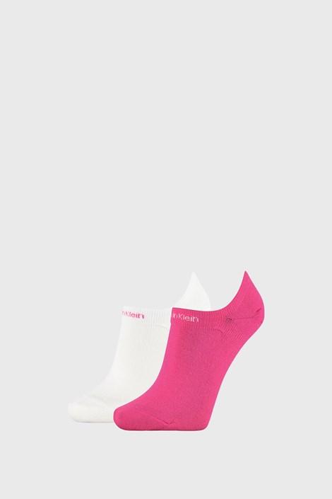 2 PACK șosete damă Calvin Klein Leanne, roz-alb