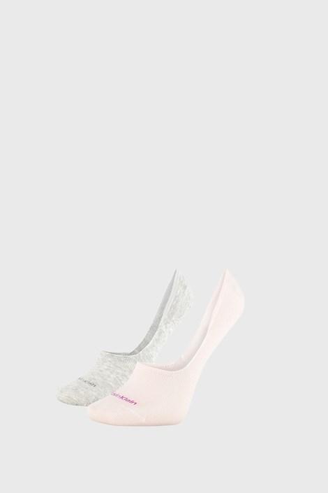 2 PACK șosete damă Calvin Klein Jessica, gri-roz