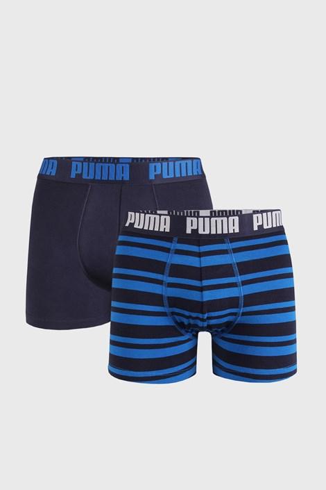 2 PACK boxeri Puma Heritahe Stripe, albastru