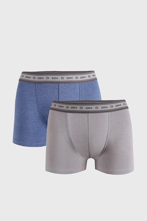 2 PACK boxeri DIM Ecosmart, gri-albastru