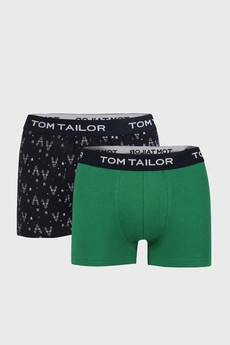 2 PACK boxeri Tom Tailor, albastru-verde