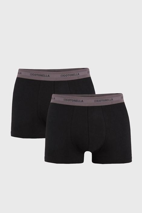 2 PACK boxeri barbatesti Uomo Comfort, negru