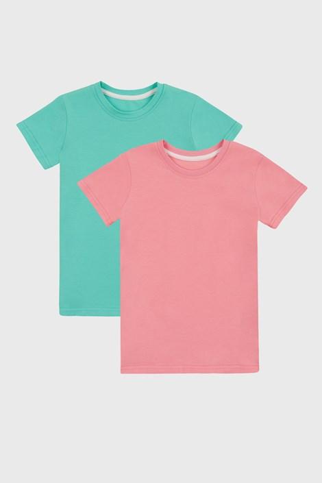 2 PACK tricou basic fetițe