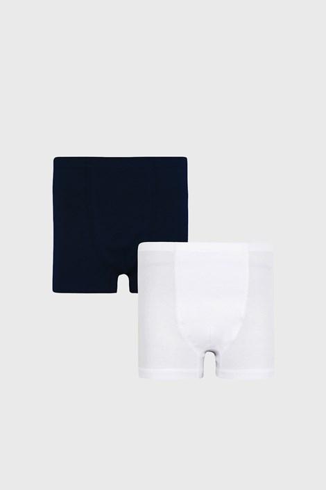 2 PACK boxeri pentru băieți Basic albastru-alb