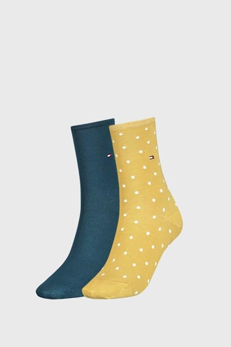 2 PACK șosete damă Tommy Hilfiger Dot, galben