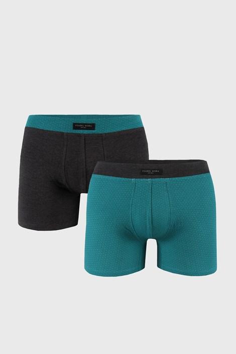 2 PACK boxeri, verde-gri