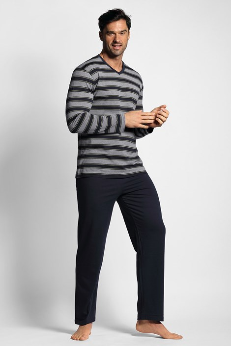 Pijama cu model dungat, albastru inchis