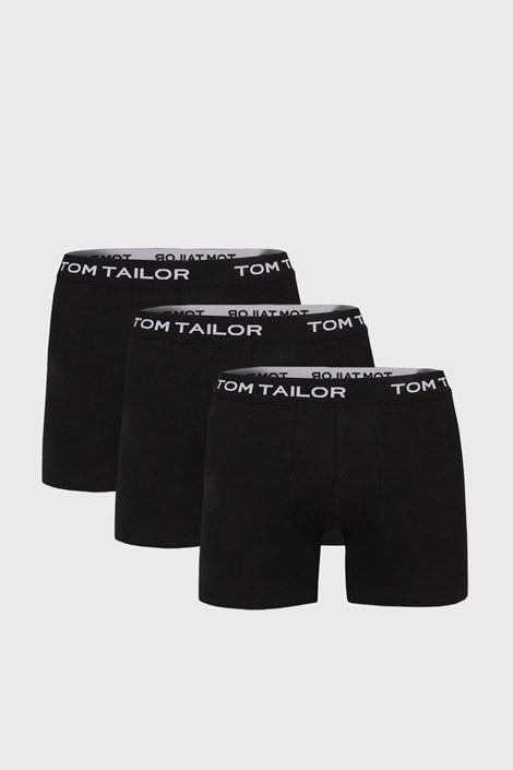 3 PACK boxeri Tom Tailor, negru