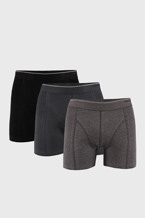 3 PACK boeri Tender cotton, negru-gri