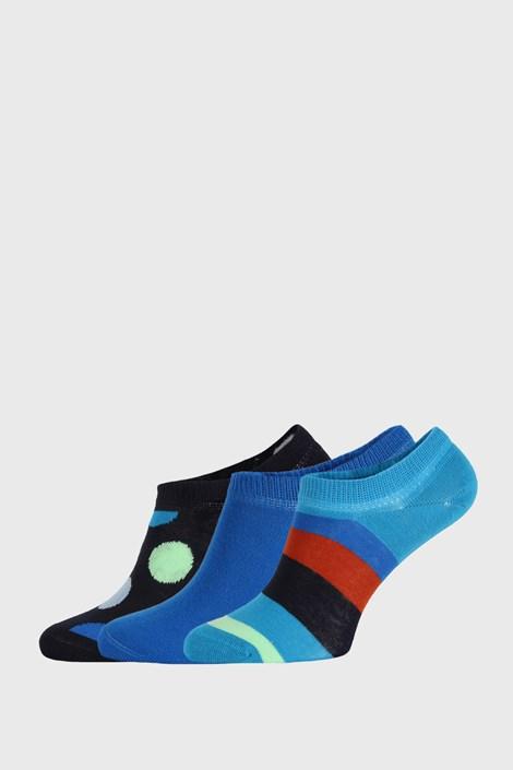 3 PACK șosete Happy Socks Stripes No Show