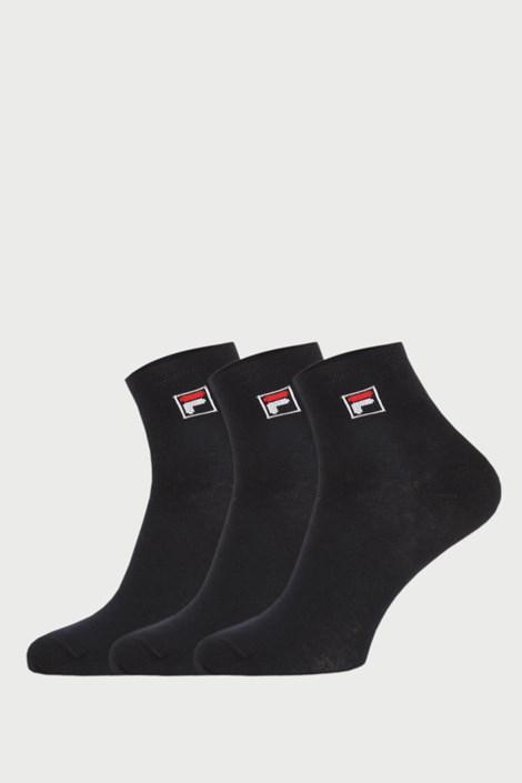 3-PACK șosete negre scurte FILA