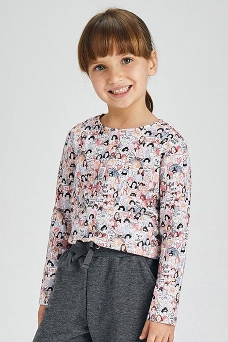 2 PACK bluză fetițe Mayoral Love mânecă lungă