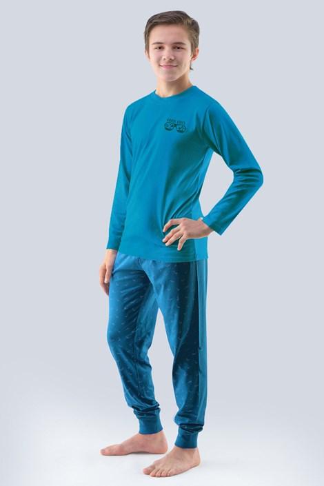 Pijama baieti Atlantic, petrol