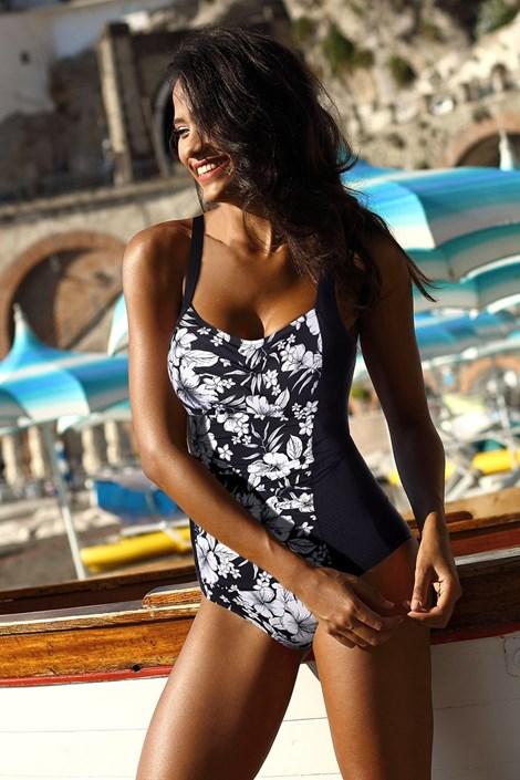 Costum de baie intreg Fiji Black, efect modelator