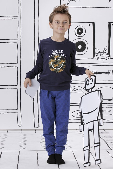 Pijama baieti Smile everyday