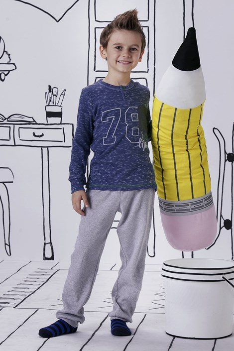 Pijama baieti Jacqard