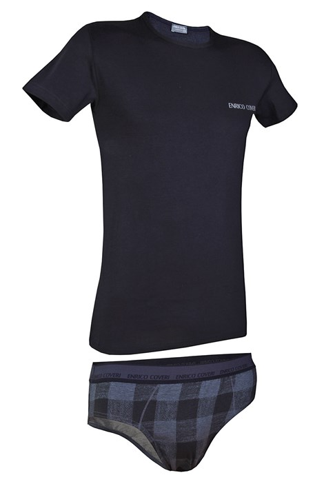 Set barbatesc ENRICO COVERI 1626SB, tricou si chilot