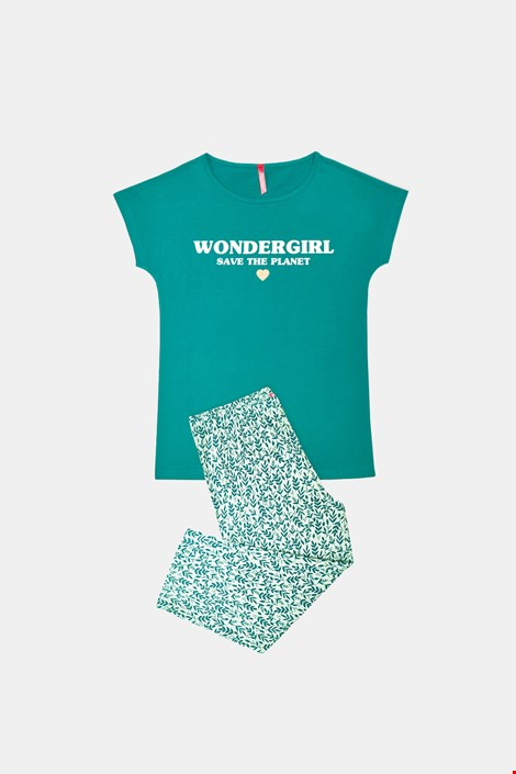 Pijama fetițe Save Planet, verde