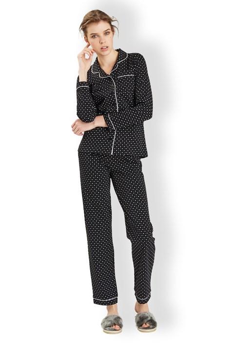 Pijama dama Hearts black
