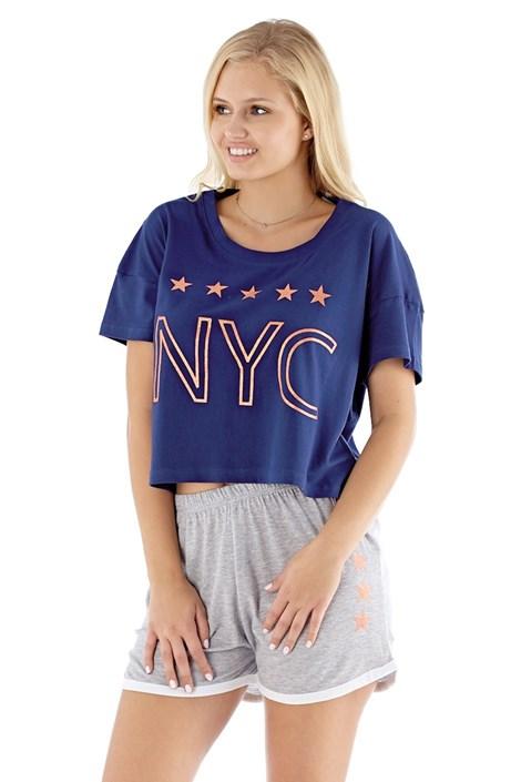 Pijama dama NYC navy