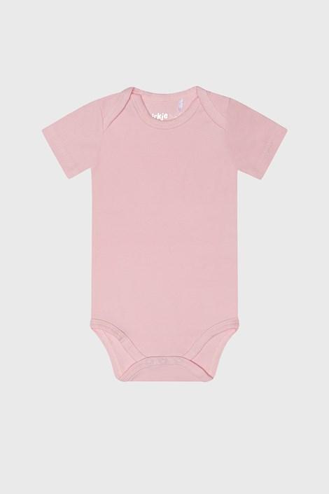 Body fetițe Baby roz cu mânecă scurtă