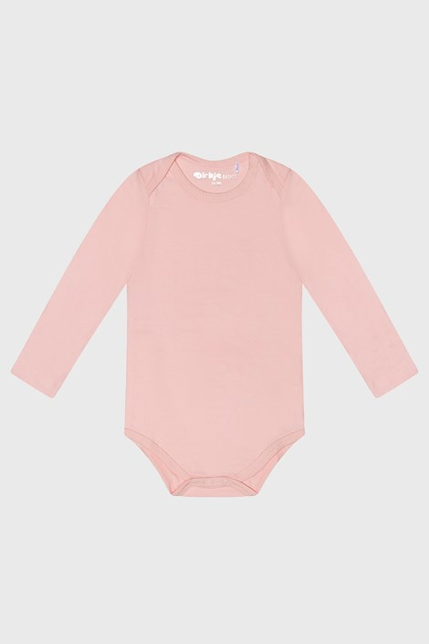 Body fetițe Baby roz cu mânecă lungă