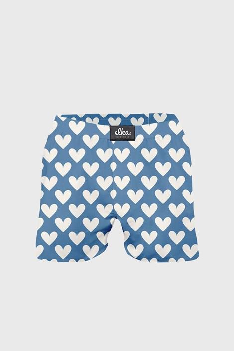 Sort ELKA LOUNGE, albastru, model cu inimioare