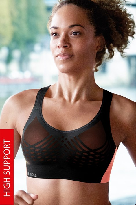 Sutien sport Ultimate Fly bra Black, fara balene