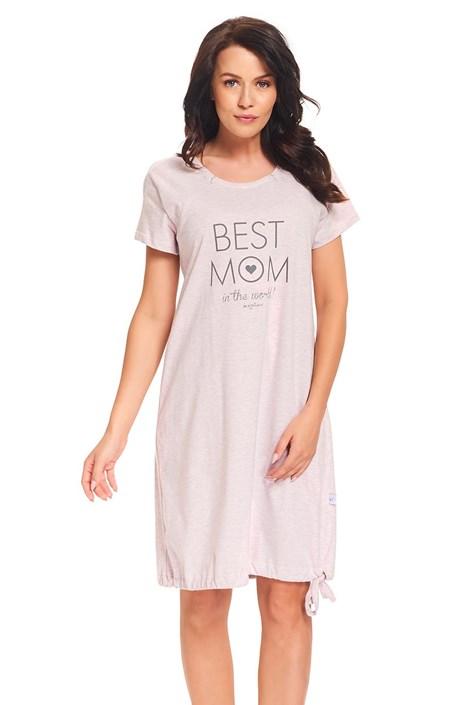 Camasa de noape Best Mom Pink, pentru alaptare