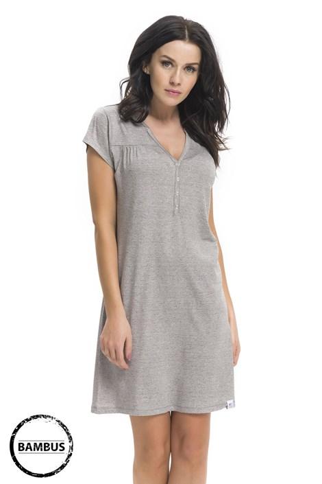 Camasa de noapte Joy Grey din fibre de bambus, sarcina si alaptare