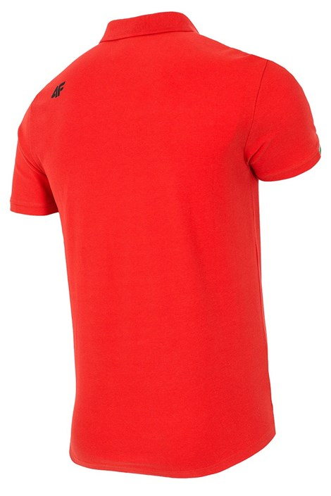 Tricou polo barbatesc 4F Red, 100% bumbac